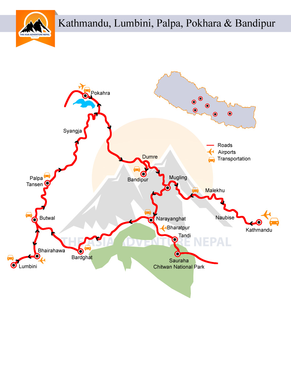 Round Heritage Tour  Trip Map