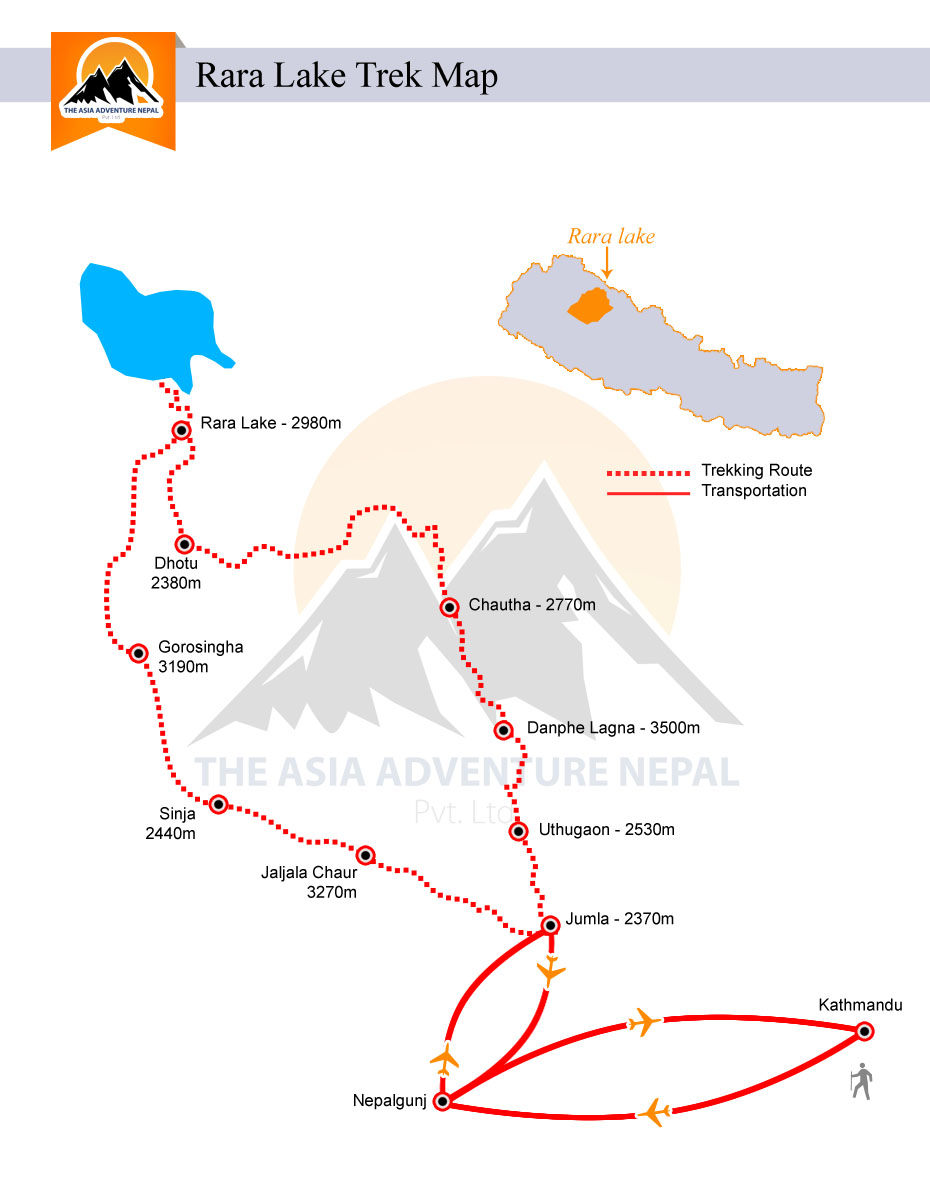 Rara Lake Trek Trek Trip Map